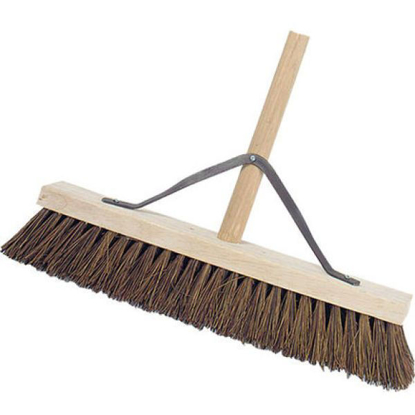 """Picture of 18 Stiff Wooden Broom Complete"""""""