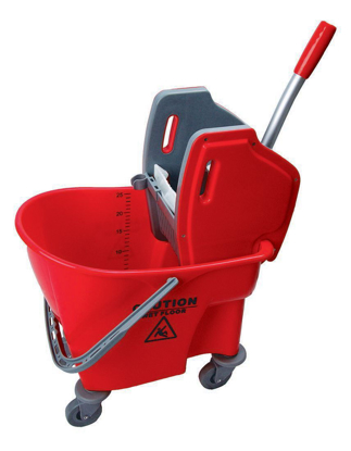 Picture of Bison Kentucky Mop Bucket/Wringer Red