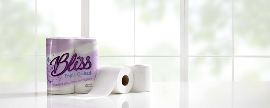 Picture of White BLISS Luxury Tissue Roll (3ply, Pack of 40)