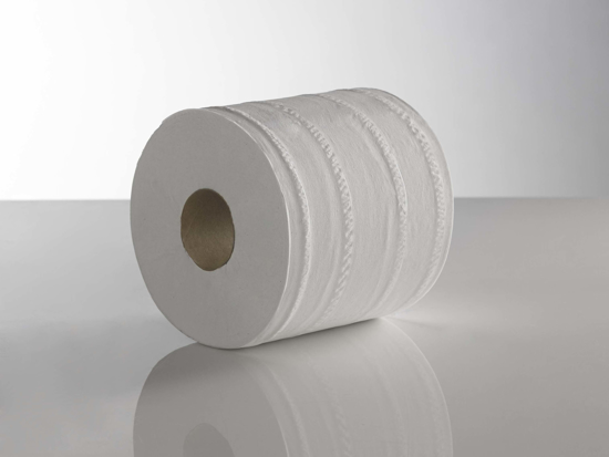 Picture of Standard Centrefeed Roll - White (1ply, 350m x 22cms, Pack of 6)