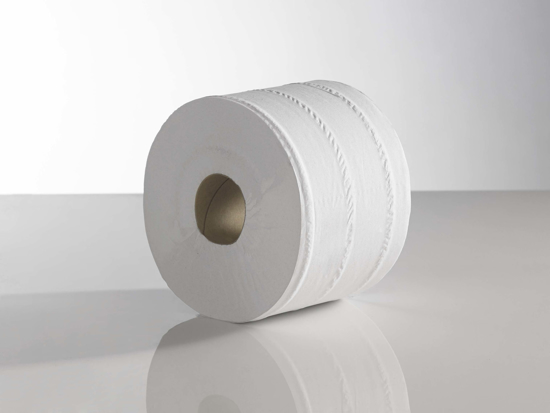 Picture of White Centrefeed Rolls (2ply, 400m x 18cm, Pack of 6)