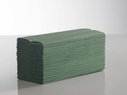 Picture of Green C-Fold Towel (1-ply, Pack of 3000)