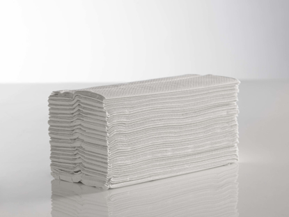 Picture of White C-Fold Flushable Towels (2ply, Pack of 2400)