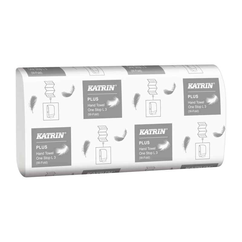 Picture of White KATRIN One Stop Hand Towel (3ply, Pack of 1890)