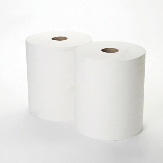 Picture of White Maxi Centrefeed (2ply, 288m x 22cm, Pack of 2)