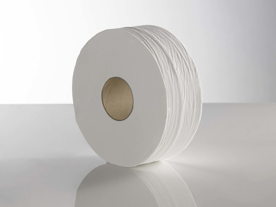 Picture of White Mini Jumbo Rolls (2ply, 145m, 3 Core, Pack of 12)