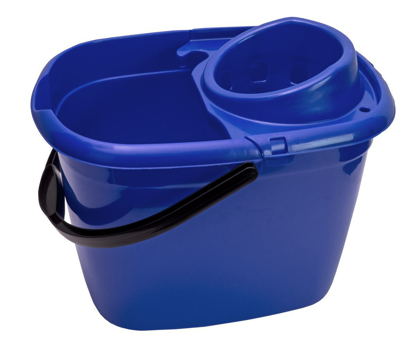 Picture of Plastic Mop Bucket Oval Blue 12Ltr