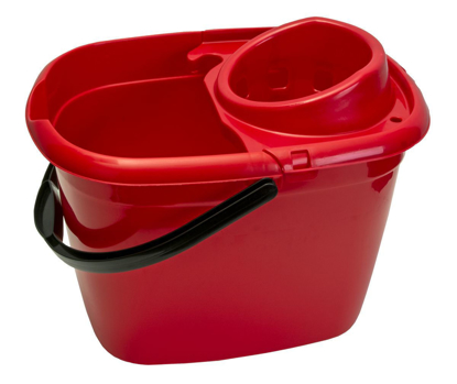 Picture of Plastic Mop Bucket Oval Red 12Ltr