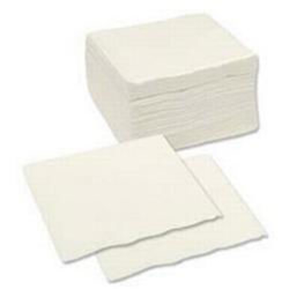 Picture of White Serviette (2ply, 33cm, Pack of 1500)