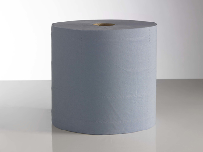 Picture of Blue Standard Centrefeed Rolls, 150m (Pack of 6)