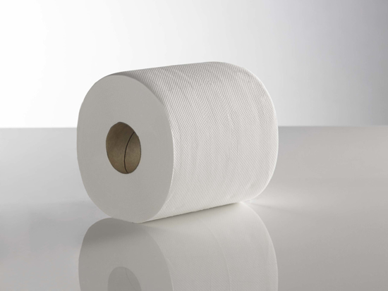 Picture of White Standard Centrefeed Roll (2ply, 125m, Pack of 6)