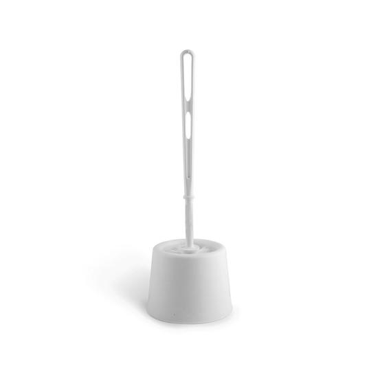 Picture of White Open Toilet Brush/Holder Set Each