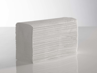 Picture of White Z-Fold Towels 2ply 23.5 x 24 (Pack of 3000)