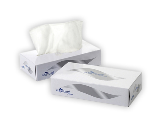 Picture of White Pop Up Facial Tissues (2Ply, 100 Sheets, Pack of 36)