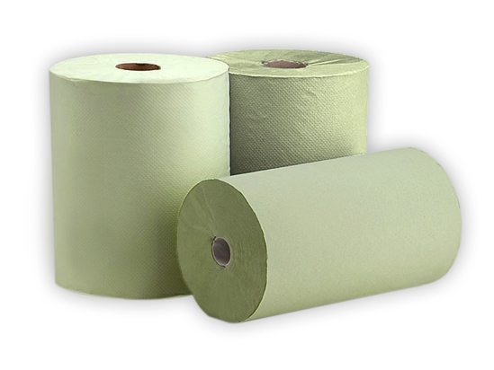Picture of Green Centrefeed Hand Towel Roll (1Ply, 76m x 20cm, Pack of 16)