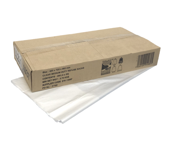 Picture of Clear Sack CHSA - Medium Duty (18x29x39cm, Pack of 200)