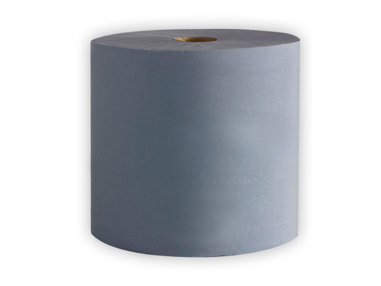 Picture of Blue Centerfeed Rolls (1ply, 18gsm, 400m x 18cm, Pack of 6)