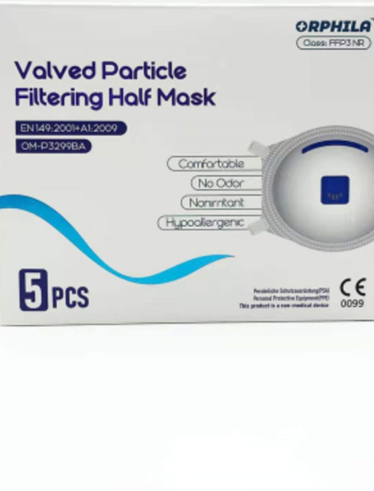 Picture of FFP3 NR - Filtering Mask Cup Shape with Valve (Pack of 5)