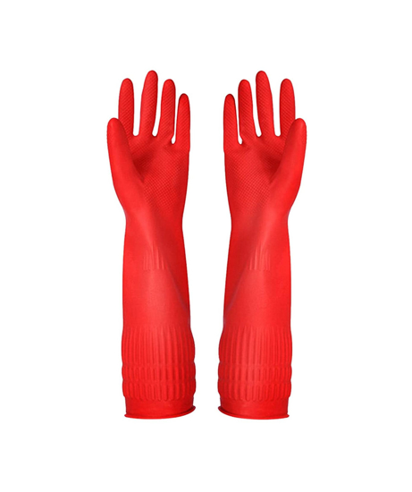 Picture of Red Household Gloves Large (1 Pair)
