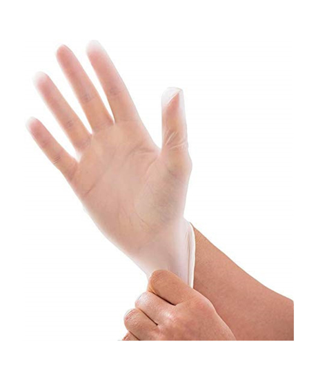Picture of Clear Vinyl Powder Free Gloves Small (10 Packs of 100 Pieces)