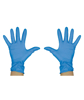 Picture of Blue Vinyl Powder Free Gloves Large (10 Packs of 100 Pieces)
